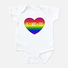 Rainbow U+ME=US Infant Bodysuit