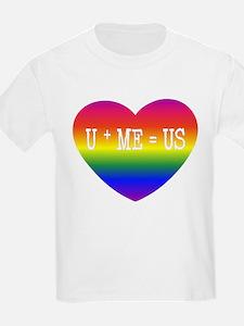 Rainbow U+ME=US Kids T-Shirt