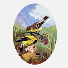Goldfinch Oval Ornament