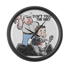 dont-touch-distressed Large Wall Clock