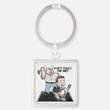 dont-touch-distressed Square Keychain