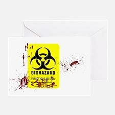 biohazard copy Greeting Card