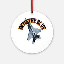 CP-T LIGHT F15 INTO THE BLUE Round Ornament