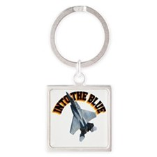 CP-T LIGHT F15 INTO THE BLUE Square Keychain
