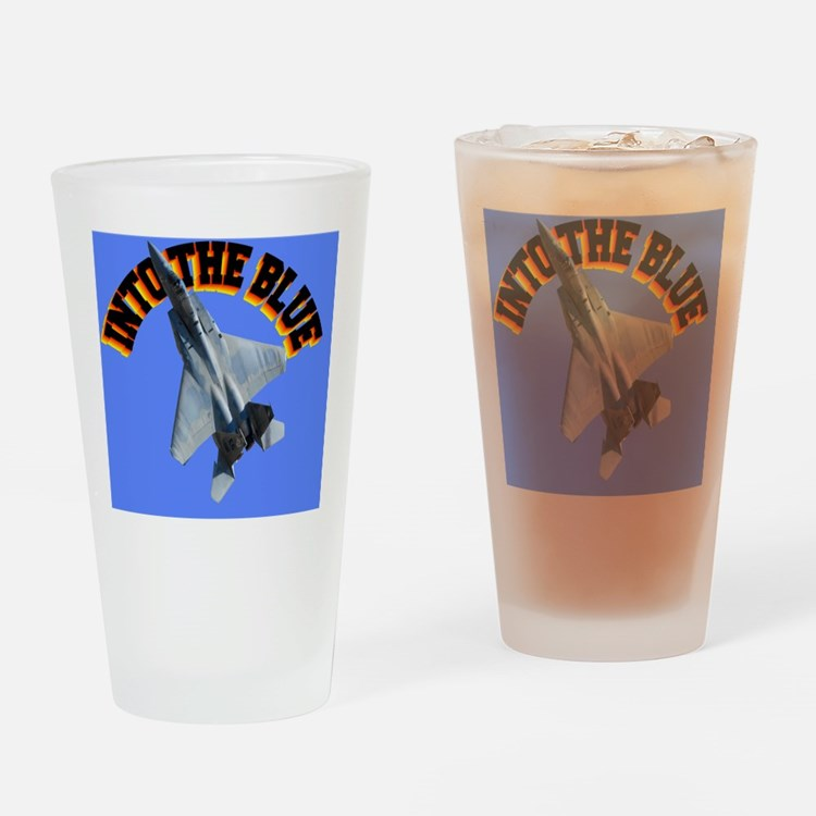 CP-MOUSE F15 INTO THE BLUE Drinking Glass