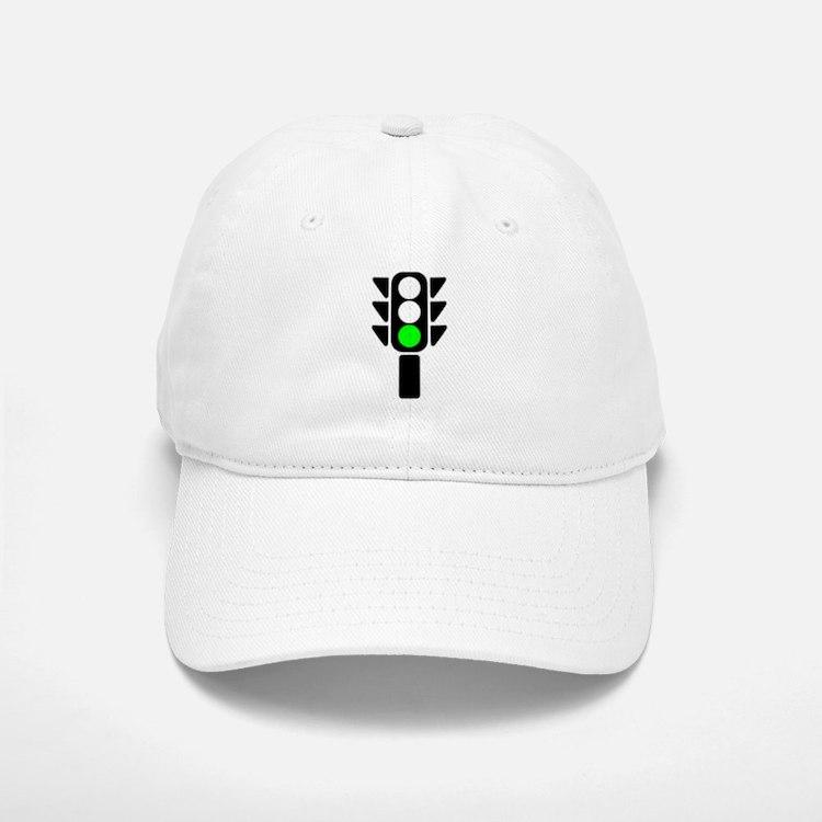 Green Light Stoplight Baseball Baseball Baseball Cap