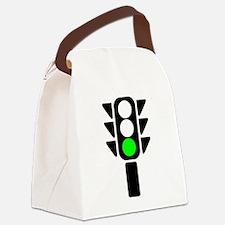 Green Light Stoplight Canvas Lunch Bag