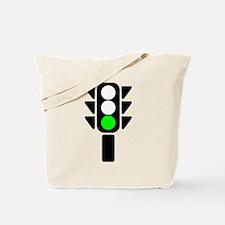 Green Light Stoplight Tote Bag