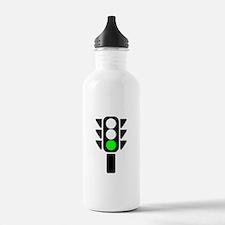 Green Light Stoplight Water Bottle
