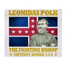 The Fighting Bishop Throw Blanket