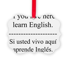 englishspanish Ornament