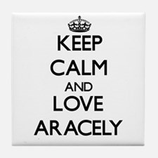 Keep Calm and Love Aracely Tile Coaster