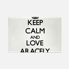 Keep Calm and Love Aracely Magnets