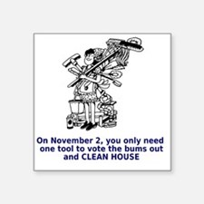 "clean-house Square Sticker 3"" x 3"""