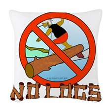 no-logs Woven Throw Pillow