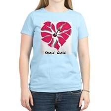 Stupid Cupid Women's Pink T-Shirt