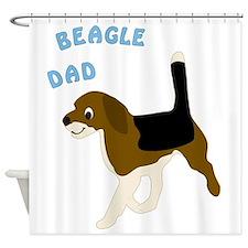 Beagle Dad Shower Curtain