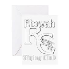 whiteflyingclublogo Greeting Card