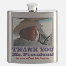 Bush-Thank-You-American Flask