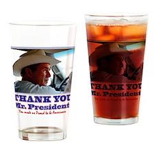 Bush-Thank-You-American Drinking Glass