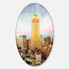 NYC Picture Empire State Building Sticker (Oval)
