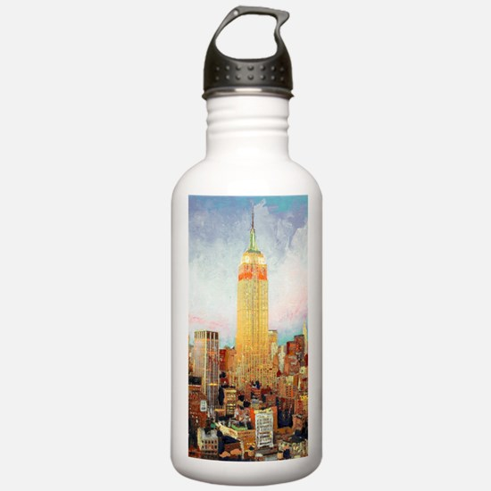NYC Picture Empire Sta Water Bottle