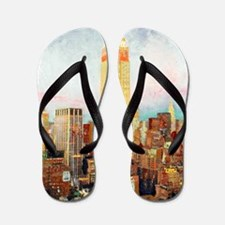 NYC Picture Empire State Building Flip Flops