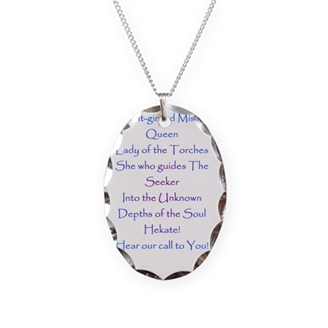 hekatepaean Necklace Oval Charm