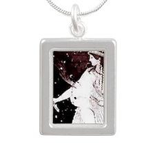 2-hekatephophoros Silver Portrait Necklace
