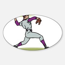 Pitcher Purple Hat Oval Decal