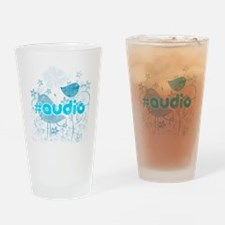 Audio-hash-tag-distressed Drinking Glass