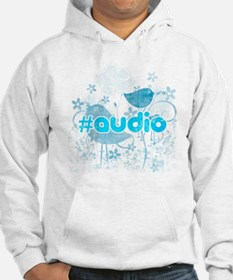Audio-hash-tag-distressed Hoodie