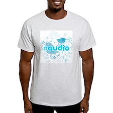 Audio-hash-tag-distressed T-Shirt