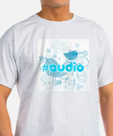 Audio-hash-tag-distressed T-Shirt