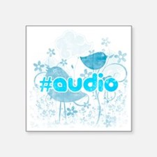 "Audio-hash-tag-distressed Square Sticker 3"" x 3"""