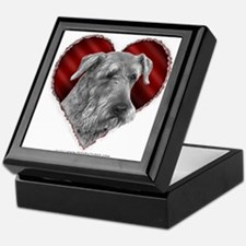 Airedale Valentine Keepsake Box