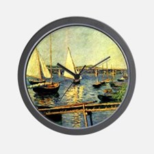 Caillebotte: Sailing Boats at Argenteui Wall Clock