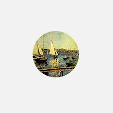 Caillebotte: Sailing Boats at Argenteu Mini Button