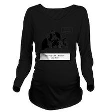 finish row at restau Long Sleeve Maternity T-Shirt