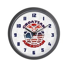 Croatian American Soccer Fan Wall Clock