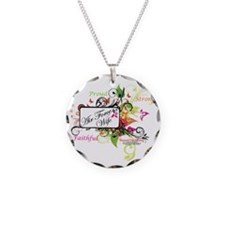 air force wife flowers mult Necklace