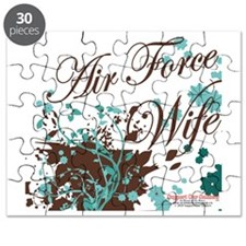 Air Force wife flower brown Puzzle