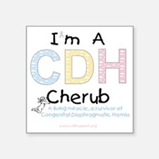 "CDHcherub Square Sticker 3"" x 3"""