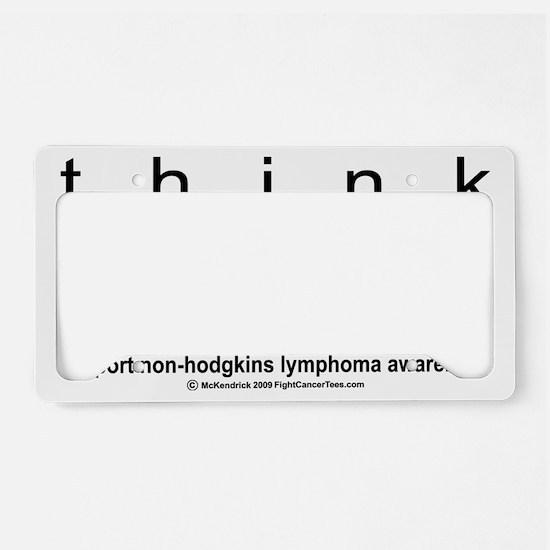 NH-Lymphoma-Think-LG License Plate Holder