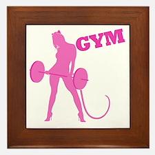 gym-rat2 Framed Tile