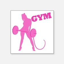 "gym-rat2 Square Sticker 3"" x 3"""