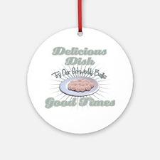 deliceousdishwhite2 Round Ornament
