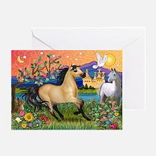 Fantasy Land Buckskin Horse Greeting Cards (Packag