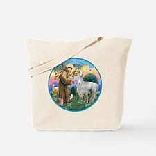 R-St Francis - Llama 12 and baby Tote Bag