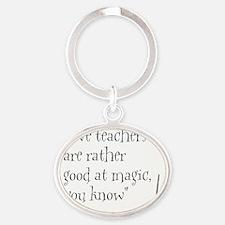 Teachers2.GIF Oval Keychain